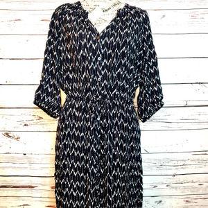 ♦️SOLD♦️GAP Chevron-Design Shirt Dress   Med 12-14